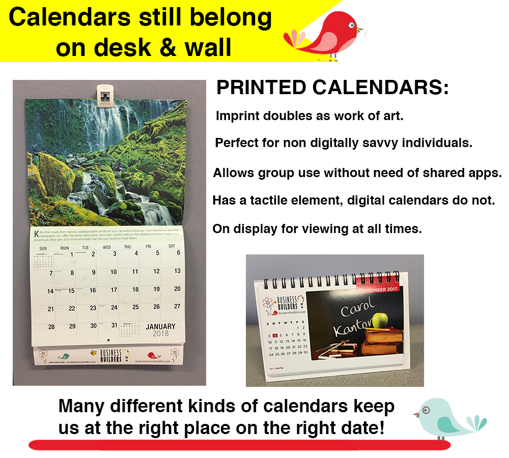 Calendars for Wall and Desk
