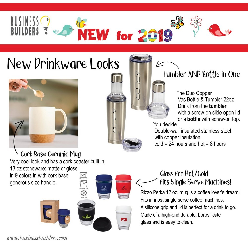 New For 2019 - Drinkware