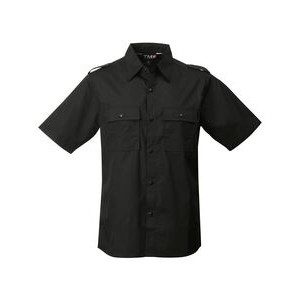 Tri-Mountain® Racewear Men's Spoiler Collared Short Sleeve Shirt